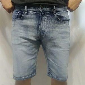 Mens Buffalo David Bitton Blue Jean Shorts Size 34